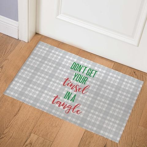 TINSEL TANGLE Indoor Floor Mat By Rosa Vila