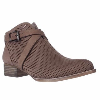 Vince Camuto Casha Perforated Ankle Booties, Smoke Taupe