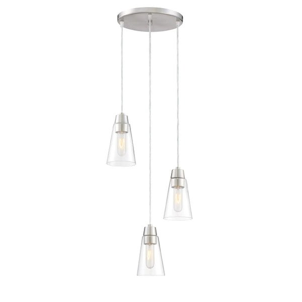 Designers Fountain 87830-3 Echo 3 Light Pendant with Clear Shade