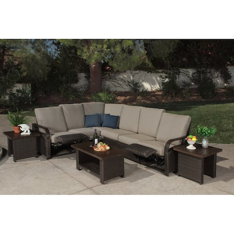 Barcalounger Outdoor Living Palm Grove 5-seater Reclining Sectional Sofa