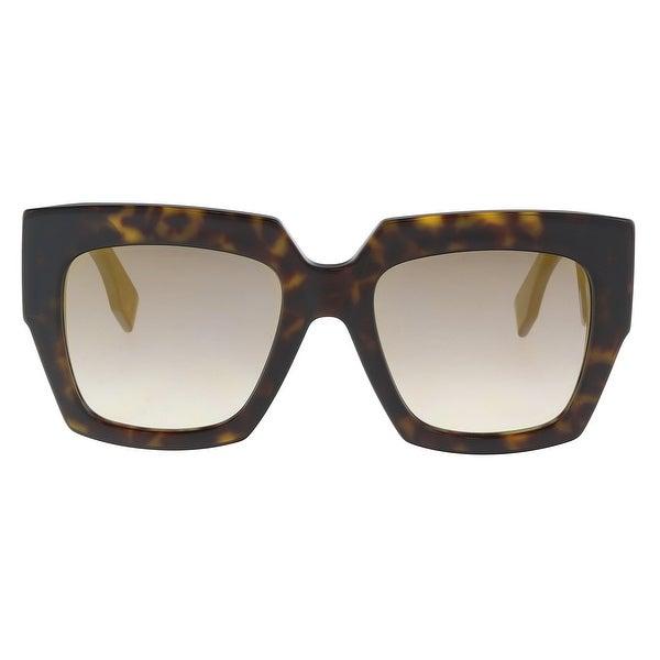 55104c081d Shop Fendi FF0263S 0086 Dark Havana Square Sunglasses - 53-20-145 ...