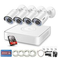 ANNKE 8CH 4 Indoor Outdoor IR 960P CCTV Security Cameras System