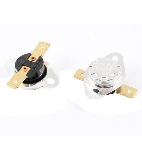 2 Pcs KSD301 2 Terminals 45 Celsius NC Temperature Controlled Switch AC 250V 15A