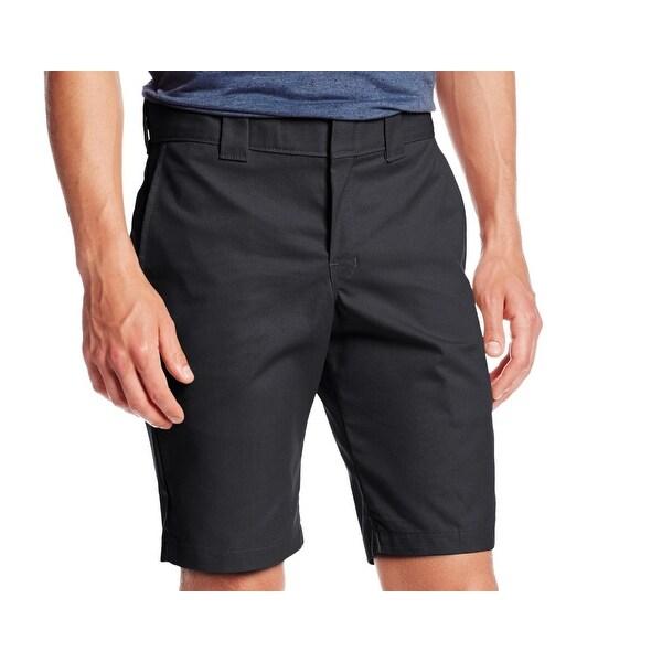 3372b82c94 Shop Dickies Black Mens Size 33 Slim Mechanical Stretch Work Shorts ...