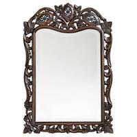 """Howard Elliott 4085 St. Agustine 29"""" x 20"""" French Brown Mirror - N/A"""