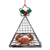 Kurt Adler Cage Trap with Red Crab  Holiday Ornament