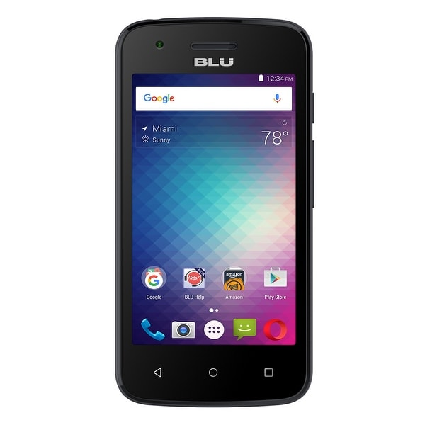 BLU Dash L2 D250U Unlocked GSM Quad-Core Android v6.0 3.2MP Smartphone - Black (Certified Refurbished)