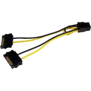 StarTech SATPCIEXADAP StarTech.com 6in SATA Power to 6 Pin PCI Express Video Card Power Cable Adapter - 6 - SATA - PCI-E