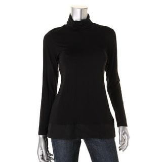 Nic + Zoe Womens Turtleneck Long Sleeve Tunic Top - S
