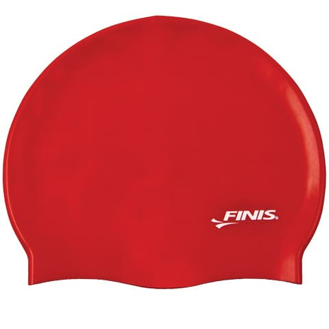 FINIS Silicone Swim Cap - Red