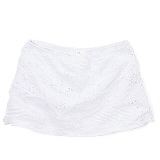 Azul Little Girls White Solid Color Eyelet Hampton's Weekend Skirt