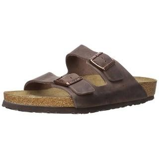 053e5aad4d92 Birkenstock Womens ARIZONA Leather Open Toe Casual Slide Sandals