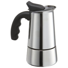 Primula PES-4606 Stainless Steel Espresso Coffee Maker with Silicone Handle, 6 Cup
