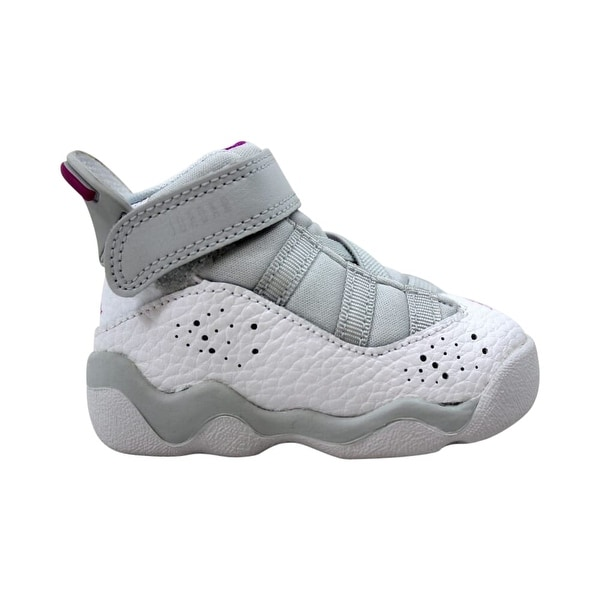 various colors 571d4 5c212 Nike Toddler Air Jordan 6 Rings Pure Platinum/Fuchsia Blast 942780-011 Size  2