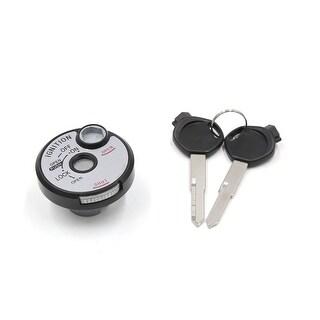 Universal Silver Tone Metal Motorcycle Oil Filler Gas Fuel Tank Lock Cover Cap