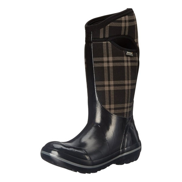Bogs Boots Womens Plimsoll Plaid Tall Max-Wix Waterproof