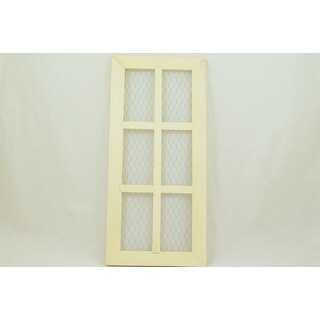 """1 Pc, 6 Panel Chicken Wire Door 10.5 """" X 23 """" Perfect For Painting Or Decorating To Match Project"""