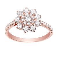 Prism Jewel 1.28 Carat Round Brilliant Cut Natural Diamond Cluster Ring - White G-H