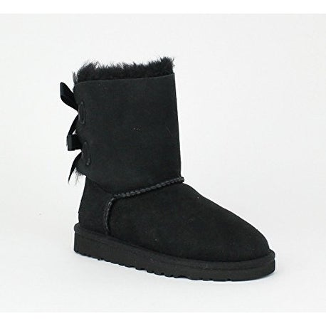 UGG Girls Bailey Bow Pull on Boot (Toddler/Little Kid/Big Kid), Black, 7 Toddler - Free Shipping Today - Overstock.com - 26401794