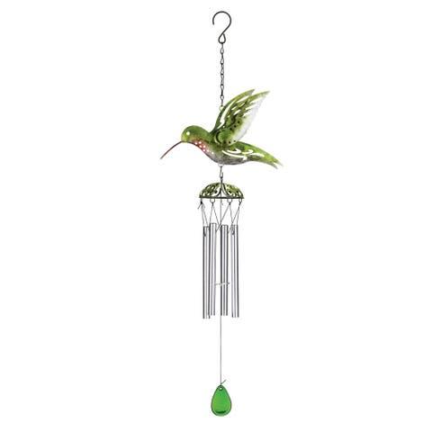 Green Hummingbird Wind Chime