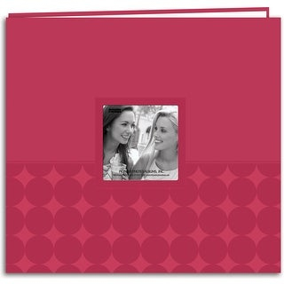 "Pioneer Embossed Post Bound Frame Album 12""X12""-Pink - Pink"