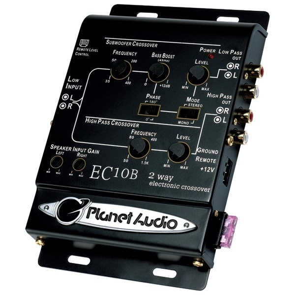 Planet Audio Ec10B 2-Way Electronic Crossover