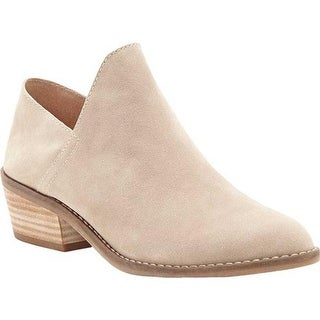 Lucky Brand Women's Fausst Ankle Bootie Mushroom Suede