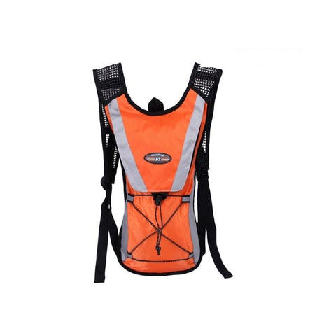 Bicycle Hydration Backpack with 2L Water Bladder - Orange