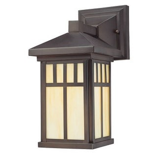 "Westinghouse 6732800 12.5"" Tall 1 Light Outdoor Lantern Wall Sconce from the Burnham Collection - Gold"