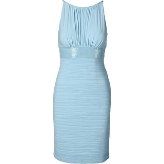 JS Boutique Womens Beaded Sleeveless Cocktail Dress