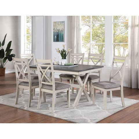 Furniture of America Paiz Modern Farmhouse Dining Set