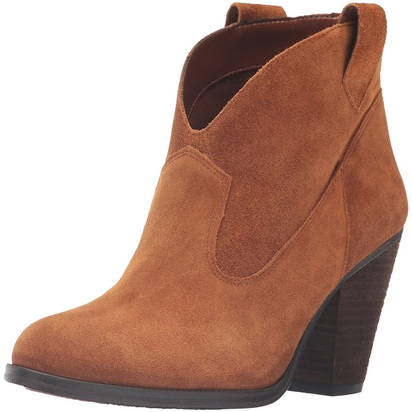 Vince Camuto Womens HADRIEN Leather Almond Toe Ankle Cowboy Boots