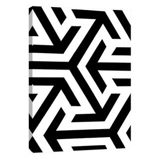 "PTM Images 9-105682  PTM Canvas Collection 10"" x 8"" - ""Monochrome Patterns 8"" Giclee Abstract Art Print on Canvas"