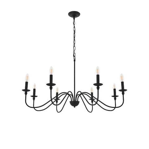 Rohan 8-light Matte Black Pendant