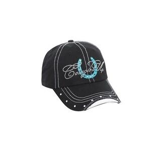 Cowgirl Up Western Hat Womens Baseball Adjustable OS Black CGH5115