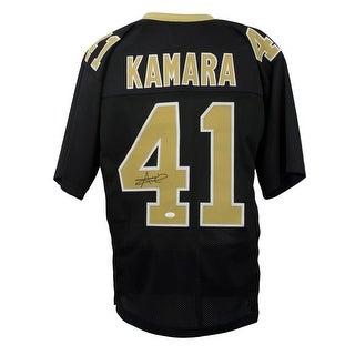 Alvin Kamara Signed Custom Black Pro Style Football Jersey JSA
