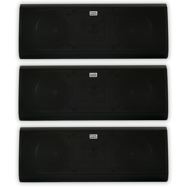 Acoustic Audio AA40CB Indoor 3 Way Speakers 1500W Black 3 Speaker Set AA40CB-3S