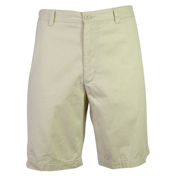 Club Room Men's Solid Color Cotton Shorts - sandstone - 42