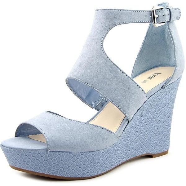 Bar III Sophie Women Open Toe Synthetic Blue Wedge Sandal
