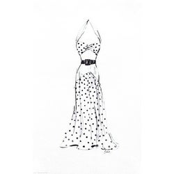 ''Dress in Polka Dots'' by Tina Amico Fashion Art Print (16 x 10 in.)
