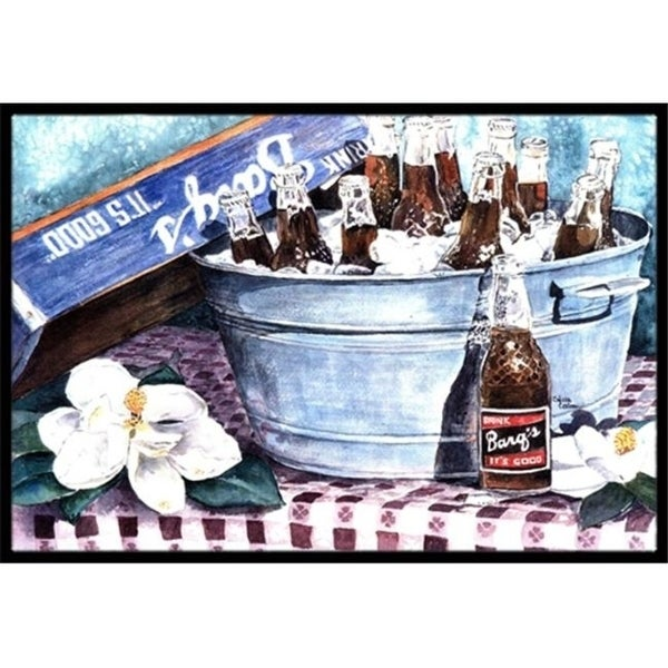 Carolines Treasures 1003JMAT 24 x 36 in. Barqs and old washtub Indoor Or Outdoor Mat