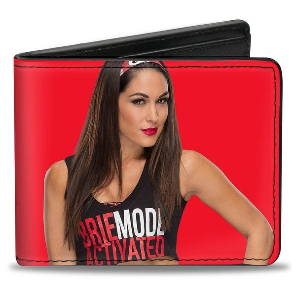 Brie Bella Vivid Pose2 + Brie Mode Red Black Bi Fold Wallet - One Size Fits most
