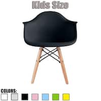 2xhome - single, black Kids Size Armchair Natural Wood Kids Children