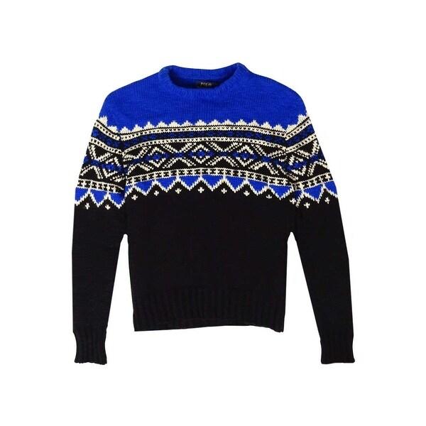 Shop Polo Ralph Lauren Men s Fair Isle Crewneck Wool Sweater - Royal Black  - Free Shipping Today - Overstock.com - 15017768 80cbbc70632