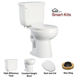 PROFLO PFCT103HE Two-Piece High Efficiency Toilet With Elongated ADA Height Bowl