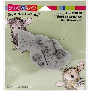 "Stampendous House Mouse Cling Stamp 3.5""X4"" -Make A Wish"