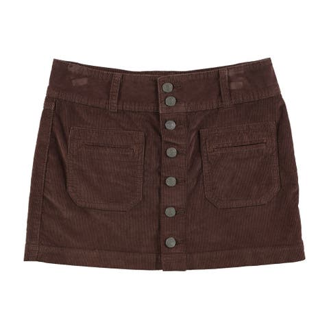 Free People Womens Solid Mini Skirt, brown, 26