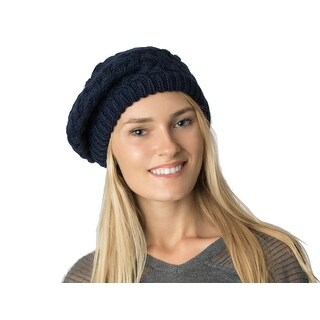 Womens Basket Beanie Beret Hat Lined