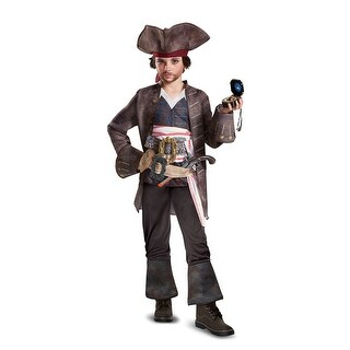 Boys Deluxe Captain Jack Pirate Halloween Costume