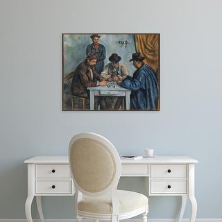 Easy Art Prints Paul Cezanne's 'The Card Players' Premium Canvas Art